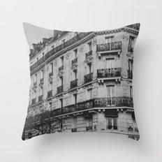 Bits of Paris Throw Pillow
