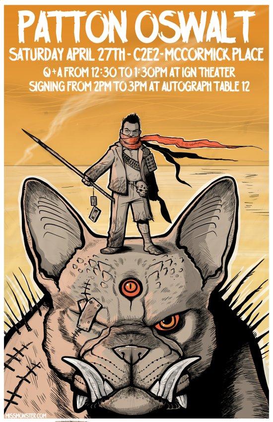 Patton Oswalt at C2E2 event poster Art Print