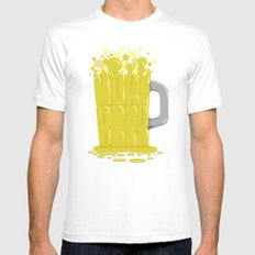 More Beer Mens Fitted Tee SMALL White