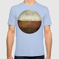 Home Is Wherever I'm Wit… Mens Fitted Tee Tri-Blue SMALL