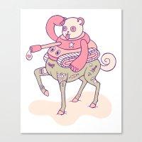 Pandatankhorse Canvas Print