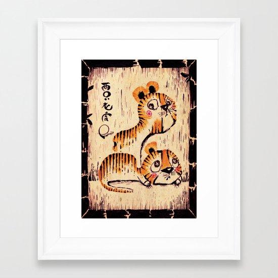 Two Little Tigers  Framed Art Print