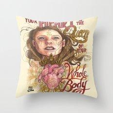 Heart is the Queen Throw Pillow