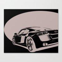 Audi R8, Black & White Canvas Print