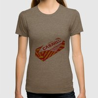Caramel Wafer pen drawing Womens Fitted Tee Tri-Coffee SMALL