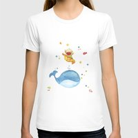 Baby Whale Womens Fitted Tee White SMALL