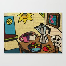 Breakfast in Cubism Canvas Print
