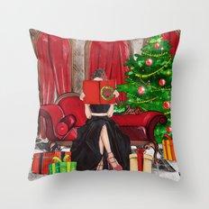 The Christmas Book Throw Pillow