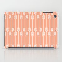 Peach and White Arrows /// www.pencilmeinstationery.com iPad Case