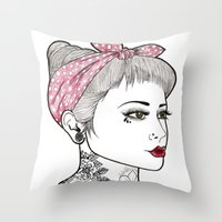 Nose Ring Throw Pillow