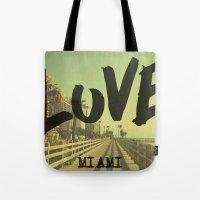 LOVE - Miami - Tote Bag