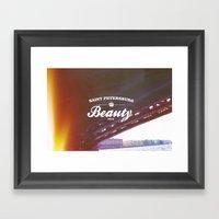 Beloved City Framed Art Print