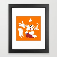 Minimal Tails Framed Art Print