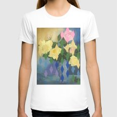 Edith Drummond Womens Fitted Tee White SMALL
