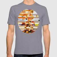 Glitch Pin-Up: Amber Mens Fitted Tee Slate SMALL