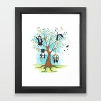 Les Petits - Apple Tree Framed Art Print