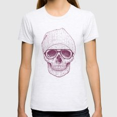 Cool Skull Womens Fitted Tee Ash Grey SMALL