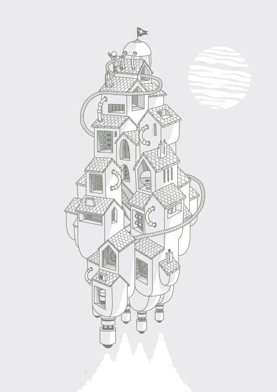 Homemadespaceship Art Print