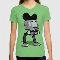 Mouse Walker Womens Fitted Tee Grass SMALL