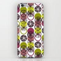 Black Border Abstract Ci… iPhone & iPod Skin
