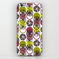 Black Border Abstract Circles iPhone & iPod Skin