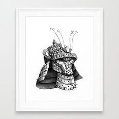 Samurai Helm Framed Art Print
