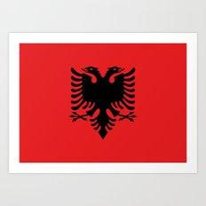 National flag of Albania - Authentic version Art Print