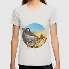 Nubian Ibex Womens Fitted Tee Silver SMALL
