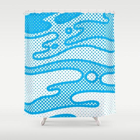 Pop Camo Shower Curtain