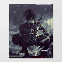 Darkfall Hanzo Exo Suit Canvas Print
