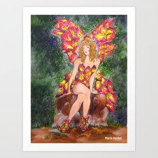 The DayLilly Flower Fairy Art Print
