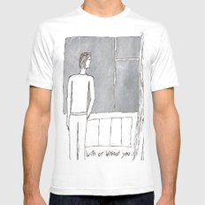 With or without you... Mens Fitted Tee SMALL White