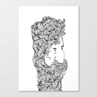 Bearded Man Canvas Print