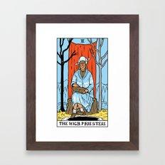 II-The High Priestess Framed Art Print