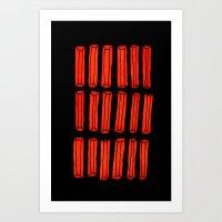 rhinestones 3a Art Print