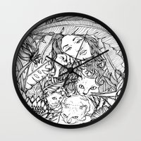 Tiny Claws - Tropical Ca… Wall Clock