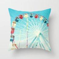 Throw Pillow featuring Ferris Wheel by Mina Teslaru