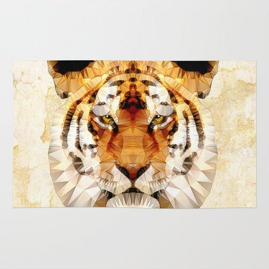 abstract tiger Area & Throw Rug