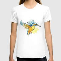 Kingfisher Womens Fitted Tee White SMALL