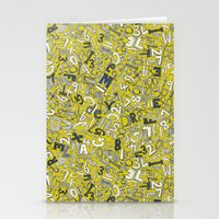 A1B2C3 chartreuse Stationery Cards