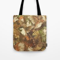 Tote Bag featuring Red-Throated, Black-capp… by Teagan White