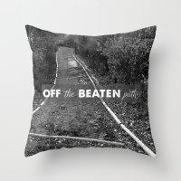 Off The Beaten Path Throw Pillow