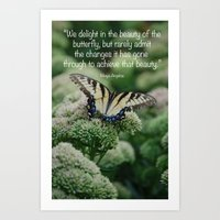 We delight in the beauty of the butterfly.... Art Print