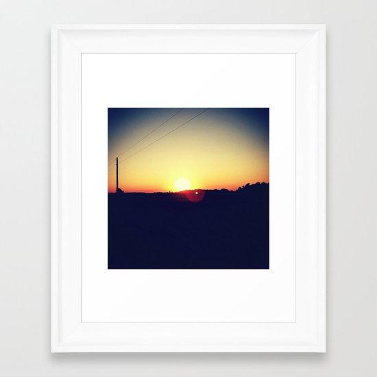 Summer Sets Framed Art Print