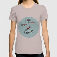 Swing HIGHER  Womens Fitted Tee Cinder SMALL
