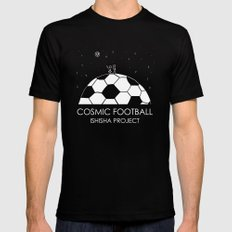 COSMIC FOOTBALL by ISHISHA PROJECT Mens Fitted Tee Black SMALL