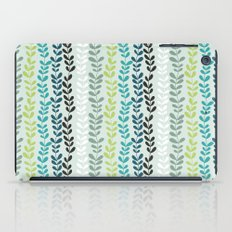 Blue and mint floral iPad Case