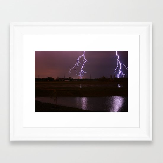 Twin Light Framed Art Print