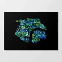 Alphabet Cities 001 - London Canvas Print