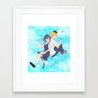 Maybe We Can Be Friends Framed Art Print